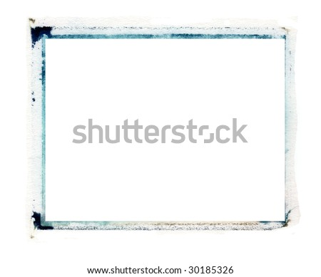 transfer emulsion border in blue