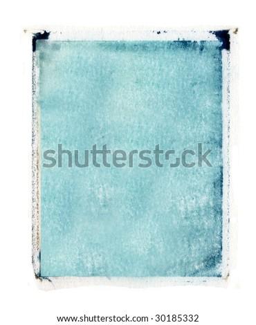 transfer emulsion border in turquoise