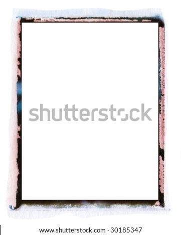transfer emulsion photo texture border