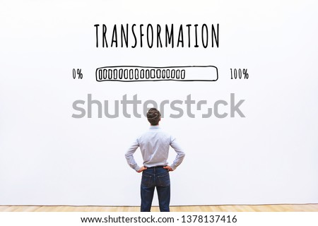 transformation business concept  with progress bar #1378137416