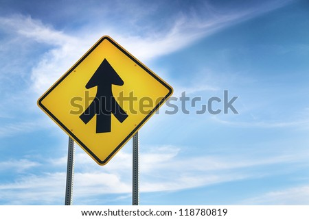 Transformed road sign as symbol of Teamwork