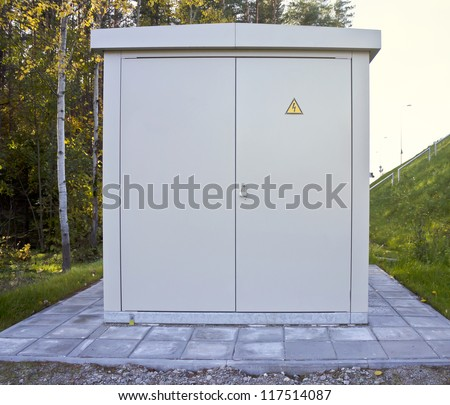 transformer cabinet, Outdoor electric control box - stock photo