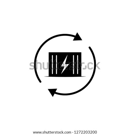 transformer, lightning, arrow icon on white background. Can be used for web, logo, mobile app, UI, UX