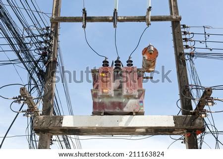 Transformer on high power station