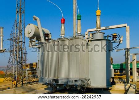 transformer on high voltage substation
