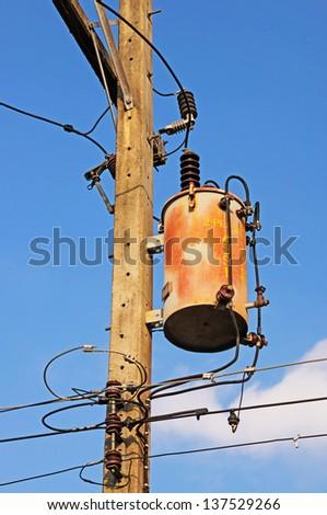 Transformer station , electricity transformer