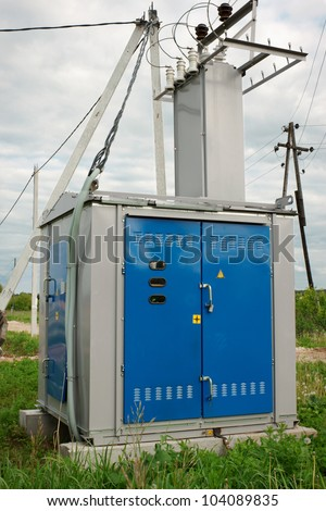 Transformer station installed near the village of