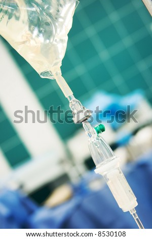 transfusion in operation room