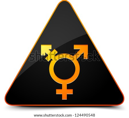 Transgender Hazard - stock photo