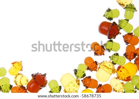 Translucent Acorn Pattern Perfect for Borders or Backgrounds.