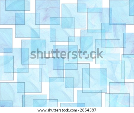 Translucent Aqua Squares form a Retro Styled Background