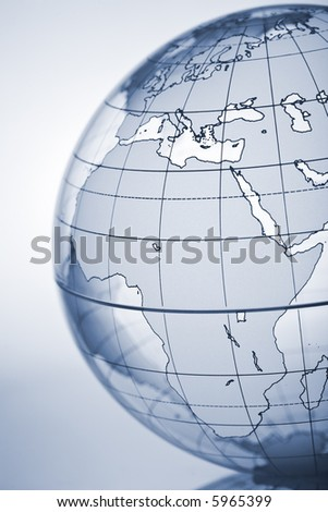 Translucent globe with backlit background