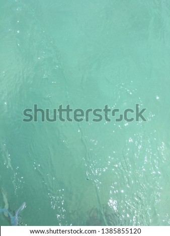 Translucent of the sea water at Similan island that so clear blue and clear green ,background