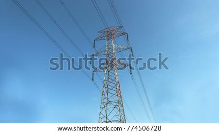 transmissiontowerandtransmissionwire #774506728