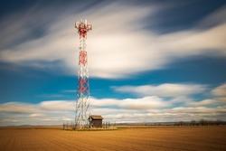 transmitter located in the field in the area of Nový Bydžov near Hradec Králové