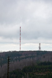 Transmitter on the Torfhaus in the Harz National Park, Germany