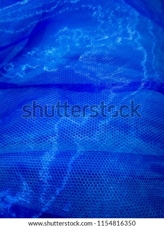 transparent blue fablic texture #1154816350