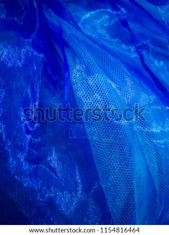 transparent blue fablic texture #1154816464