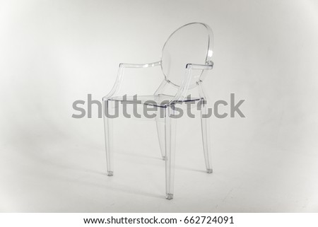 Transparent chair on a white background #662724091