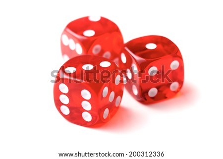 Transparent dice on a white background. #200312336