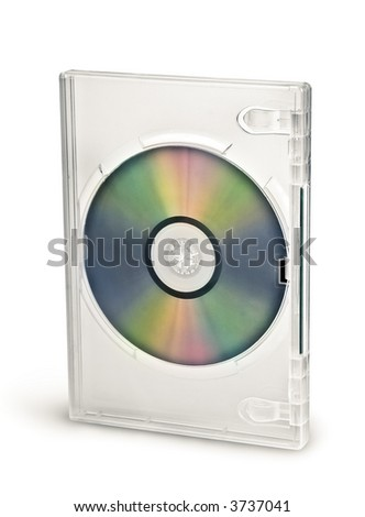 Transparent dvd cd case with disc