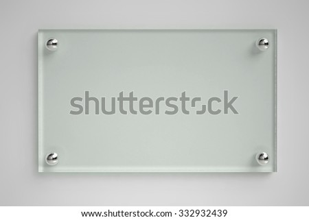 Shutterstock Transparent glass board on the wall