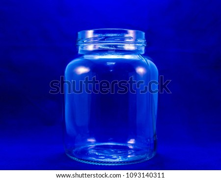 Transparent glass bottle #1093140311