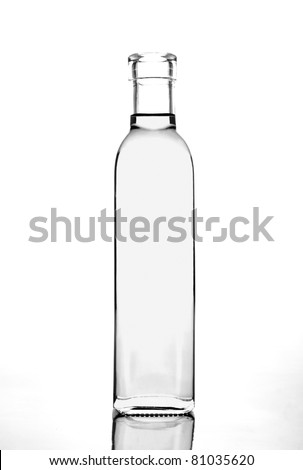 transparent glass bottle