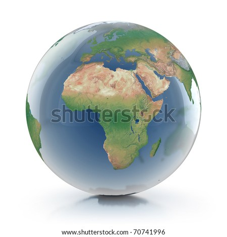 transparent globe 3d illustration