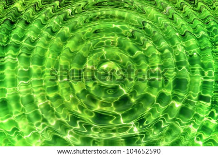 Transparent green water ripple like background