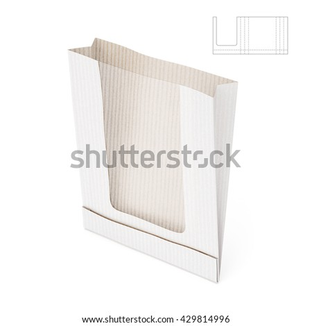 Royalty free food paper bag with die cut layout 194406587 stock transparent paper bag with blueprint template 3d render 429814996 malvernweather Gallery
