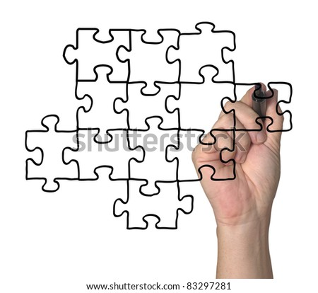 Transparent puzzle, useable on any picture.