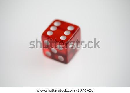 Transparent Red Casino Die #1076428