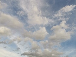 Transparent sky Dense clouds Time before sunset