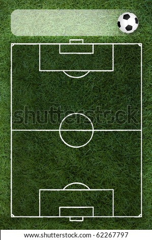 transparent soccer field with title board