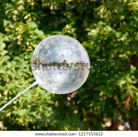 transparent transparent balloon #1217553622
