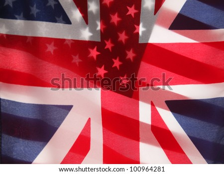 transparent U.S. and UK flags