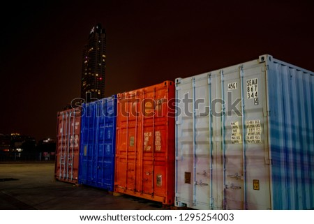 Transport containers, Bangkok, Thailand. #1295254003