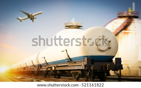 transport gas and oil by train