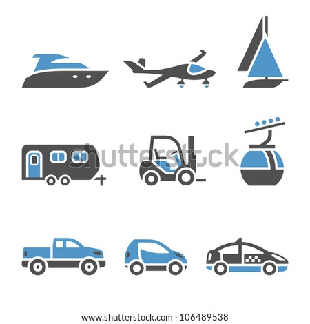 Transport Icons - A set of first. Eps version also available in my image gallery