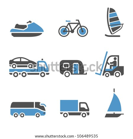 Transport Icons - A set of third. Eps version also available in my image gallery - stock photo