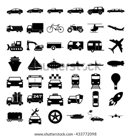 Transport icons. concept illustration for design.