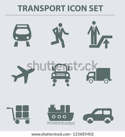 Transport icons,vcetor