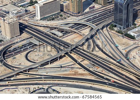 Transport interchange in Dubai. UAE.