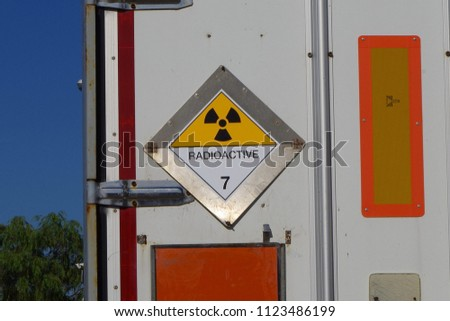 Stock Photo Transport of nuclear material in Hamburg, Germany.