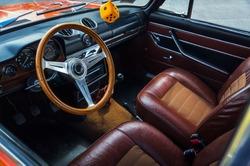 Transport, Retro, Interior of the Salon of the Car 60-70's