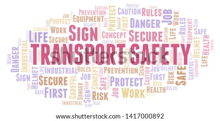 Transport Safety word cloud. Word cloud made with text only.