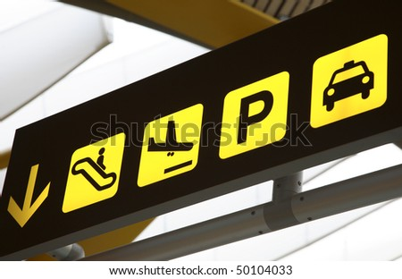 Transport Sign in Airport