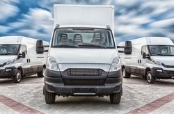 Transport truck and minivans cargo delivery