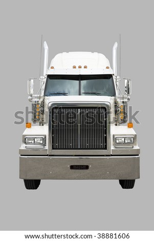 Transport truck isolated on white with clipping path